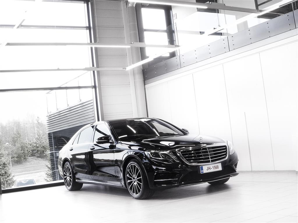Mercedes-Benz S 350 Lang 4Matic Aut + Nahat + Navi + Burmester + Distronic + HUD + LED-valot + Surround View *** Kor