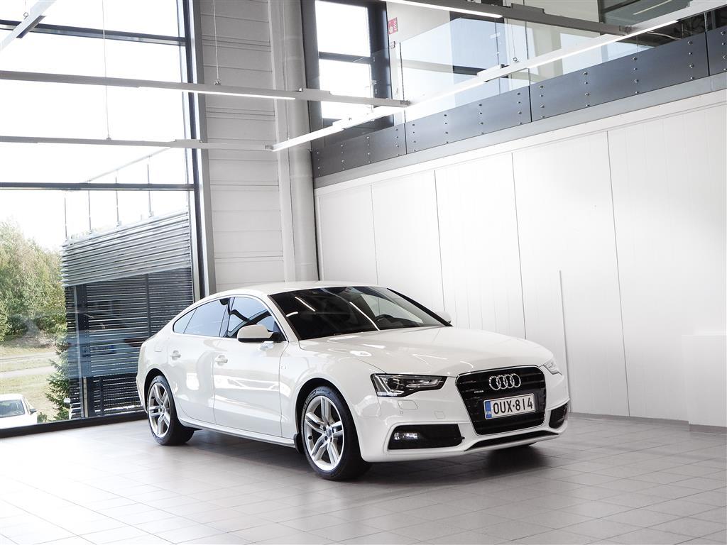 Audi A5 2,0 TDI Sportback Quattro S-Line + Sport-penkit + BiXenon + Tutkat + Sis. ALV 24%
