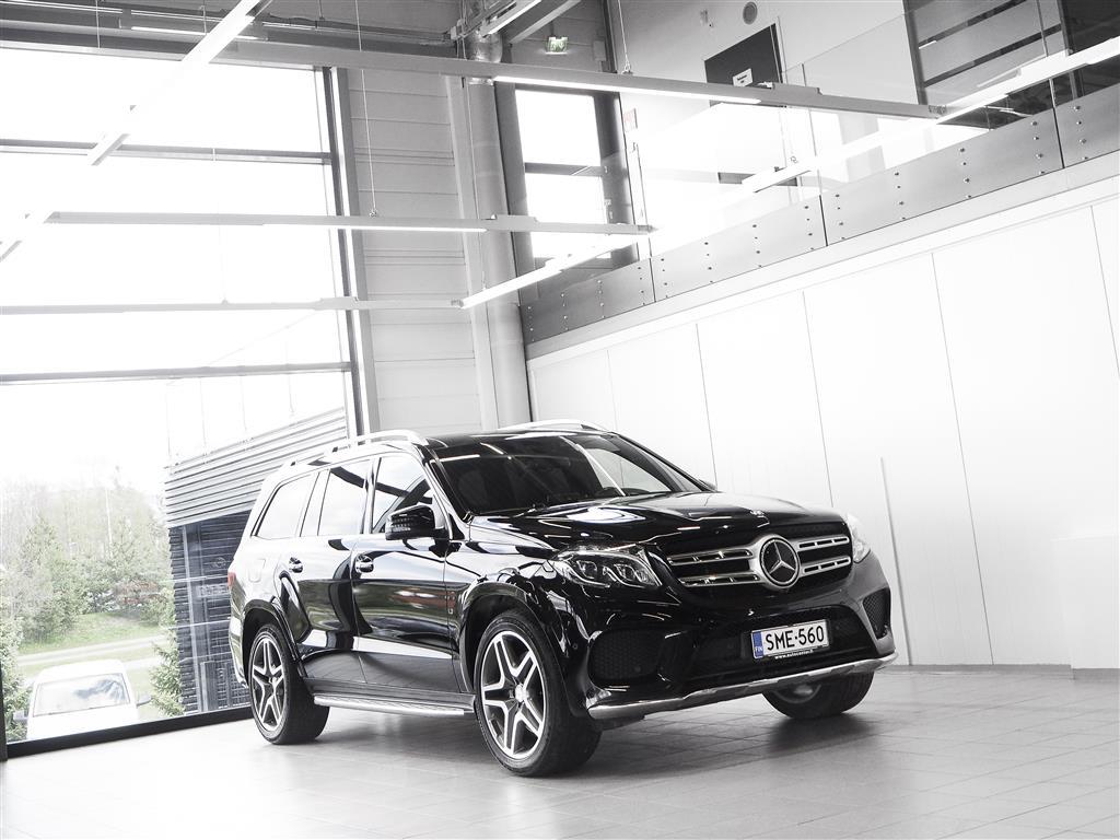 Mercedes-Benz GLS 350d 4Matic Aut + Nahat + Navi + Bang&Olufsen + LED-valot + Tutkat