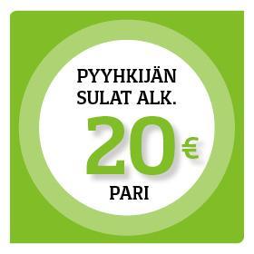 Pyyhkijänsulat alk. 20 € pari